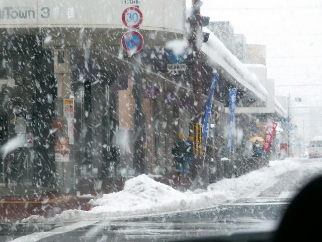 雪の京都府・綾部に出講 ...